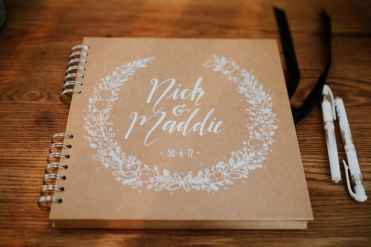 Craft Paper Wedding Guest Book
