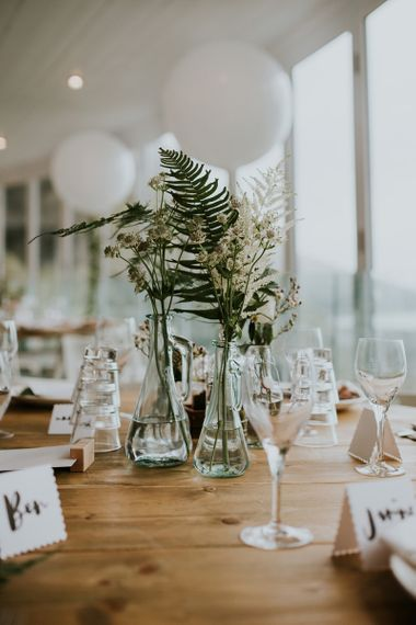 Foliage and Flower Stems in Vases