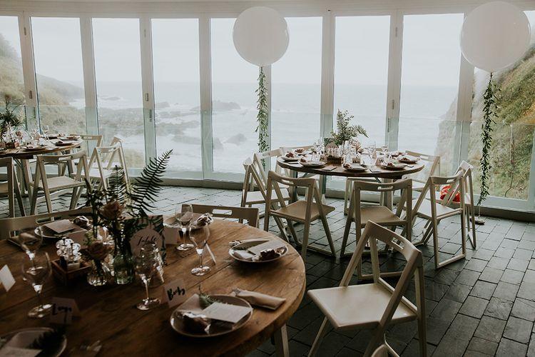 Wedding Reception Decor at Tunnels Beaches in Devon