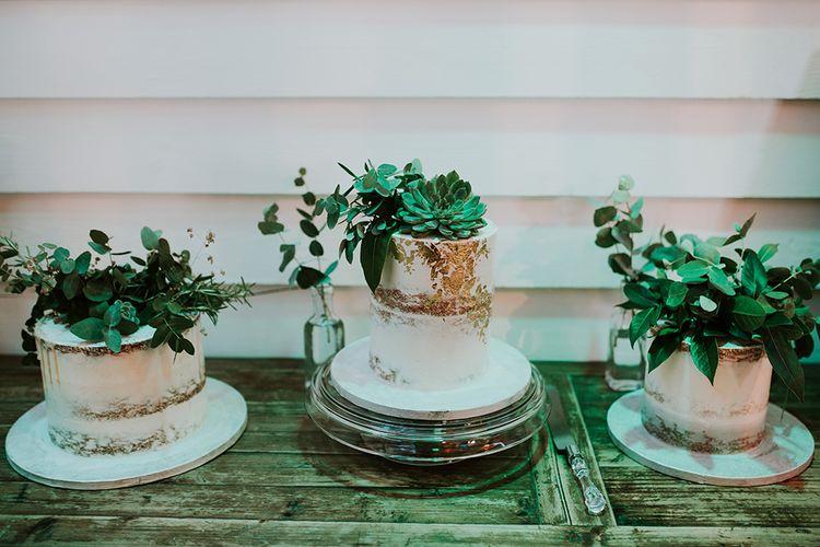 Three Individual Semi Naked Wedding Cakes