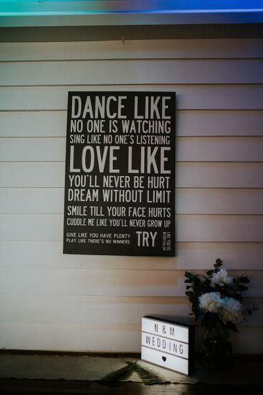 Dance Like No One is Watching Wedding Sign