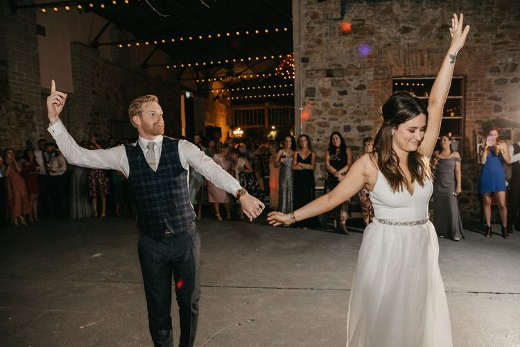 Bride and Groom First Dance at Killruddery House and Gardens in Ireland
