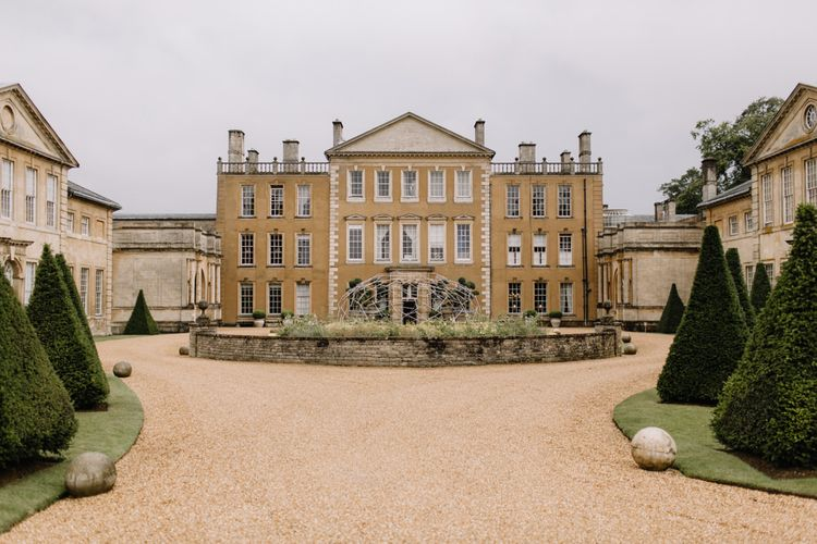 Aynhoe Park luxury wedding with Berta Bridal gown