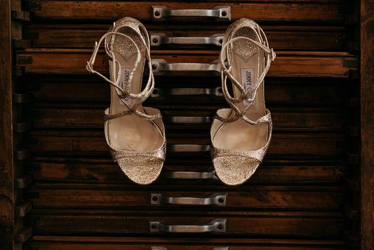 Jimmy Choo Bridal Shoes | Malaga Destination Wedding | Sara Lobla Photography | Un Par de Medias Film