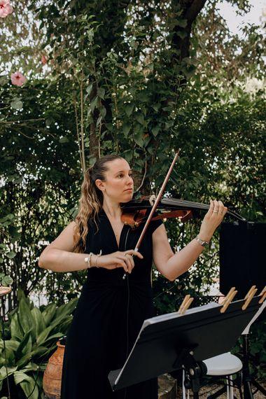 String Quartet Wedding Entertainment | Malaga Destination Wedding | Sara Lobla Photography | Un Par de Medias Film