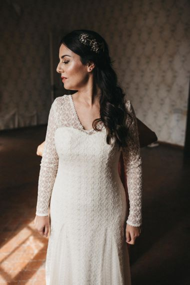 Otaduy wedding dress with long sleeves