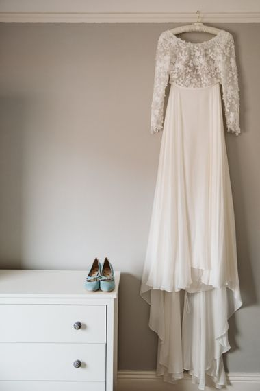 Emma Beaumont Wedding Dress with Applique Bodice