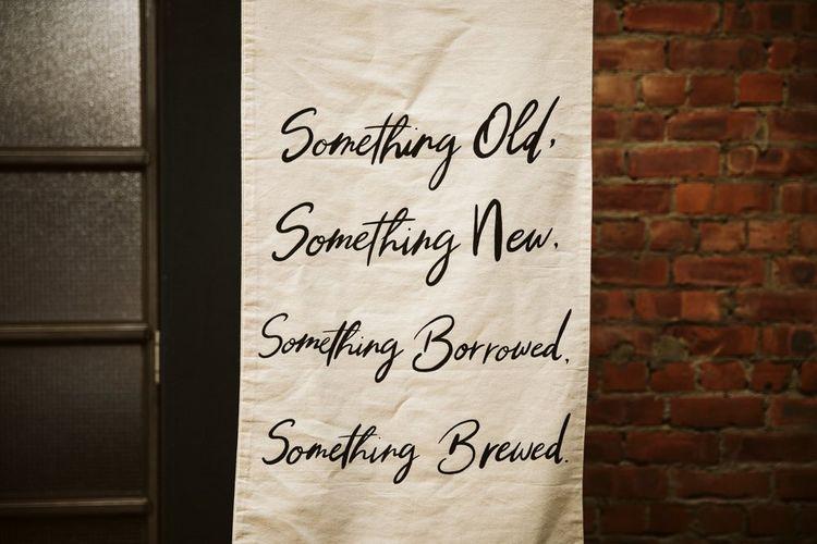 Something Old Something New Something Borrowed Something Blue Fabric Wedding Sign