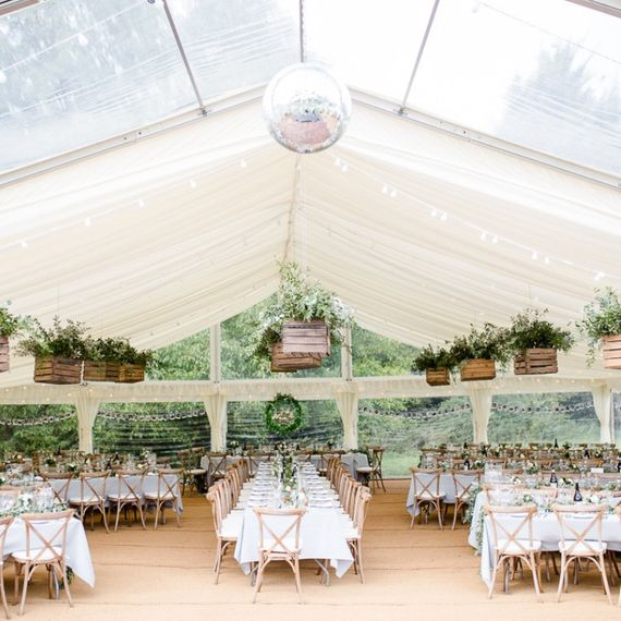 Pleated Lining and Disco Ball at Abbas Marquee