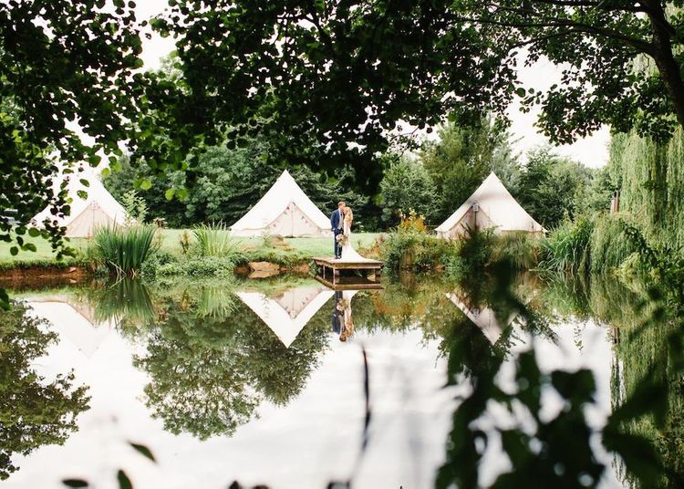 Bell Tents for Wedding at Dewsall Court