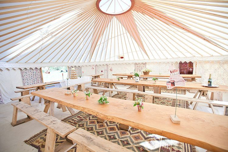 Long Table Yurt Wedding by Hooes Yurts
