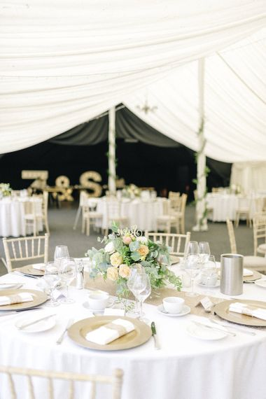 Wedding Marquee at Middleton Lodge Image by Sarah Ethan Photography
