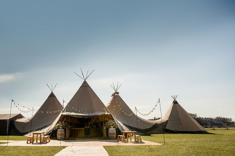 Festival Wedding Teepees by PapaKata Image by DominicWright