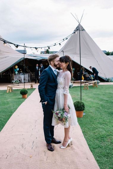 Wedding Tent Festival Long Sleeved Wedding dress at Skipbridge Bronte Hall