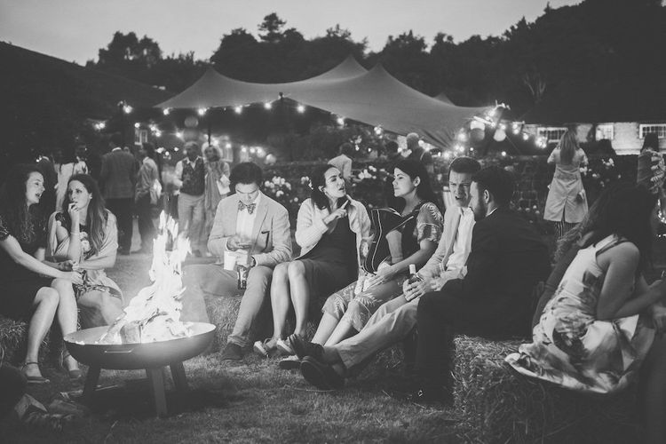 Wedding Fire Pit by Stretch Tents