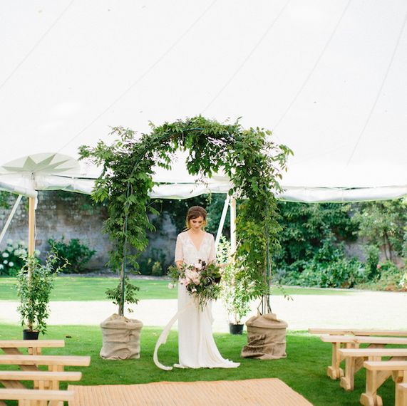 Foliage Arch Wedding Ceremony Marquee by Pitched