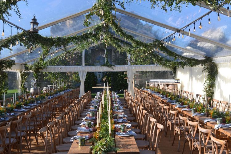 Foliage Decor in Clear Marquee by Abbas Marquees