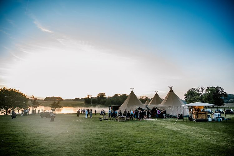Festival Wedding Tents at Holkham by Kathy Ashdown