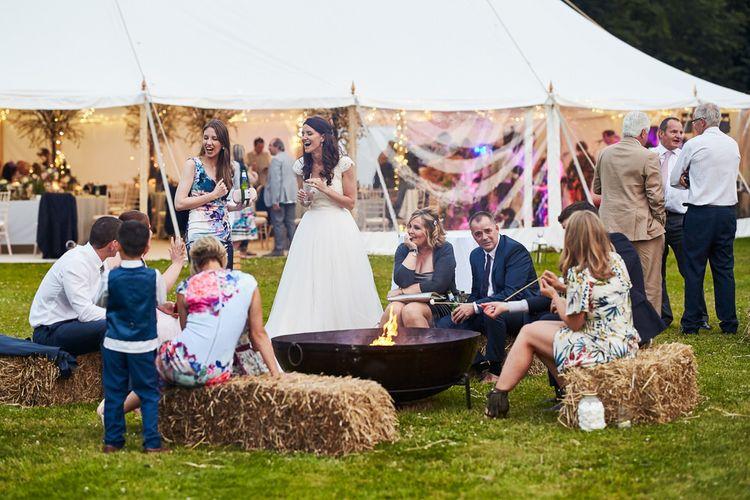 Festival Wedding Fire Pit at Dorfold Hall