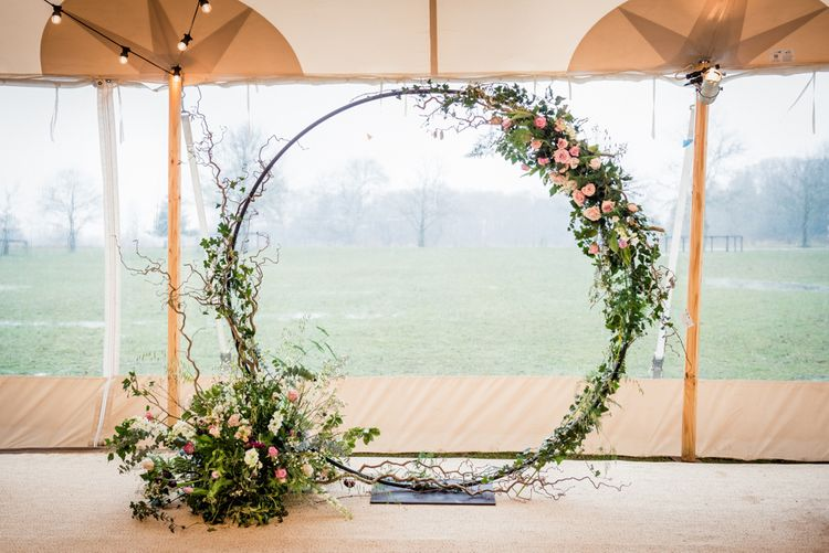 Moon Gate at PapaKata Tent Wedding Image by Lucy Davenport Photography