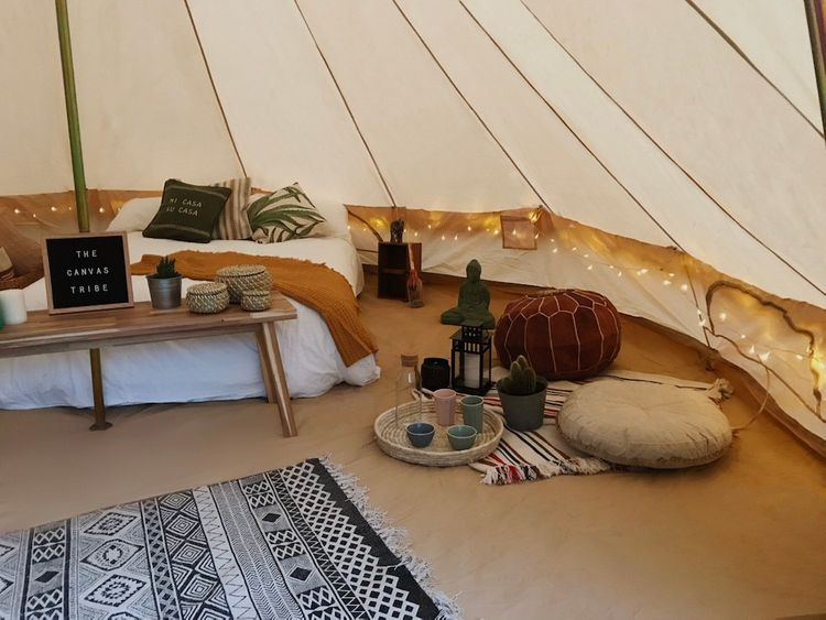 The Canvas Tribe Bridal Bell Tent