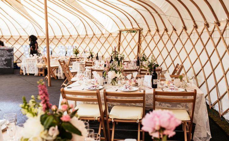 Wedding Reception by Yorkshire Yurts