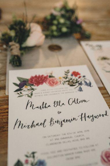 Colourful wedding stationery designs