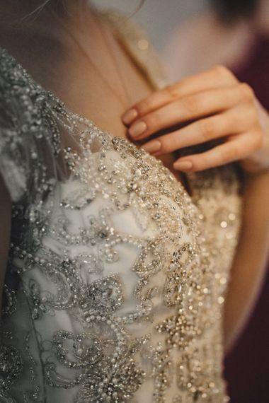Embellished Morilee wedding dress for former 2014 Great British Bake Off contestant Martha Collinson
