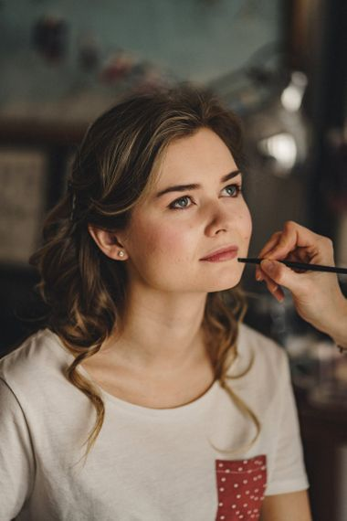 Wedding day makeup for former 2014 Great British Bake Off contestant Martha Collinson