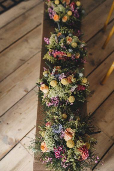 Colourful bridal bouquets