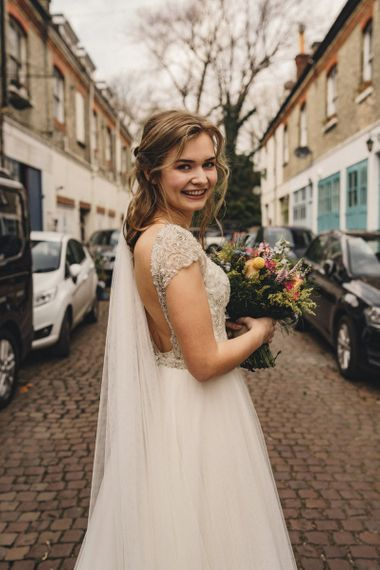 Former 2014 Great British Bake Off contestant Martha Collinson on her wedding day