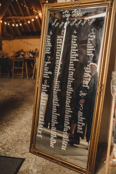 DIY mirror table plan