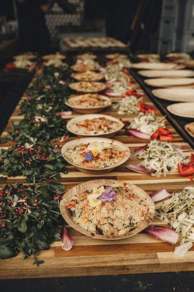 wedding food by Garlic Wood Farm caterers