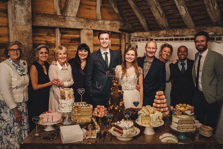 Former 2014 Great British Bake Off contestants at Martha Collinson's wedding
