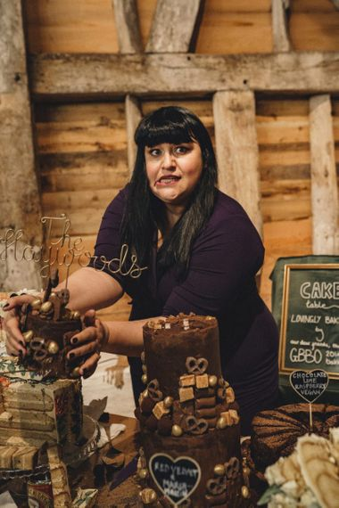 former 2014 Great British Bake Off contestant at the dessert table