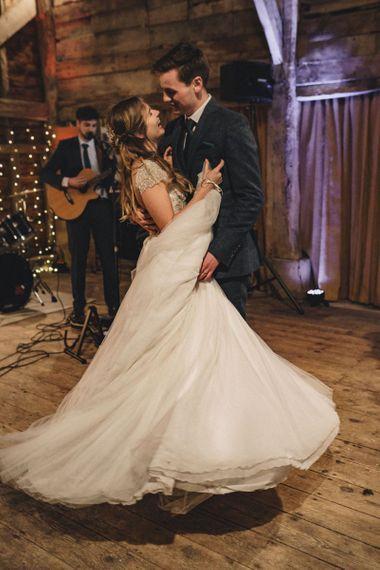 First dance at former 2014 Great British Bake Off contestant Martha Collinson's wedding