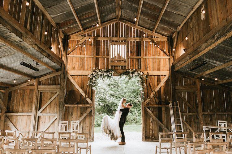 Bride and groom at Nancarrow Farm wedding