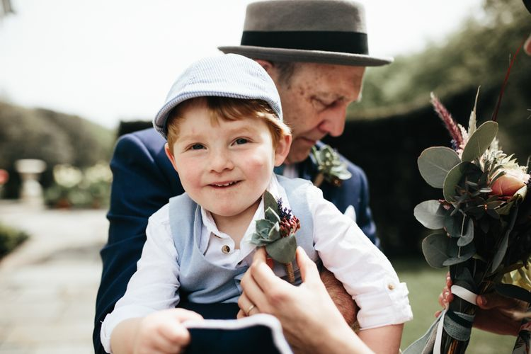 Children At Weddings // Intimate Wedding Ceremony // Beach Wedding In Wales // Second Hand Wedding Dress For An Eco Friendly Budget Wedding At Slade Farm In Wales With Images From Francesca Hill Photographer
