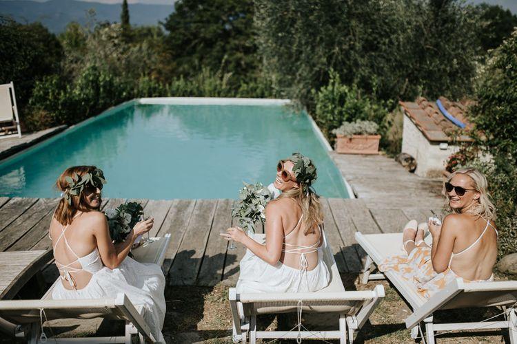 Bridal Party   Outdoor Bohemian Destination Wedding at La Selva, Tuscany   Damien Milan Photography