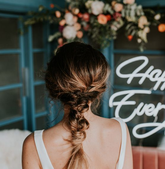 Messy Plait Bridal Up Do