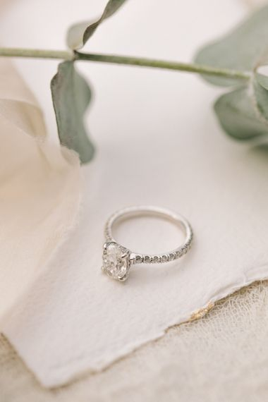 Diamond Engagement Ring | Contemporary Elegance Wedding in the Countryside  | M & J Photography | Film by Jacob and Pauline