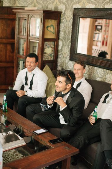 Groomsmen Getting Ready | Contemporary Elegance Wedding in the Countryside  | M & J Photography | Film by Jacob and Pauline