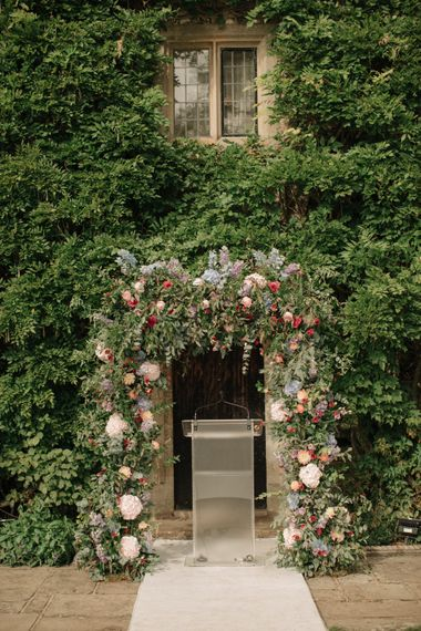 Floral Arch | Contemporary Elegance Wedding in the Countryside  | M & J Photography | Film by Jacob and Pauline