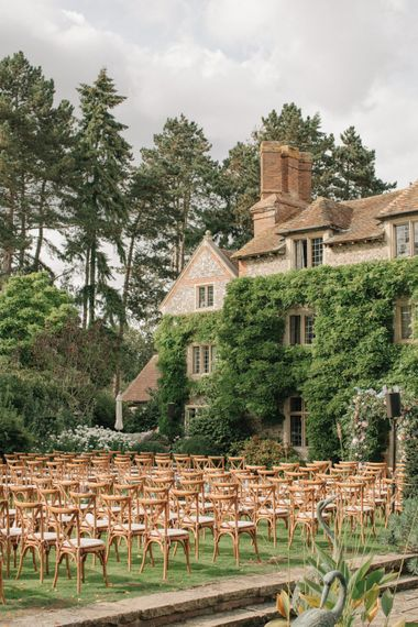 Outdoor Wedding Ceremony at the Family Home | Contemporary Elegance Wedding in the Countryside  | M & J Photography | Film by Jacob and Pauline