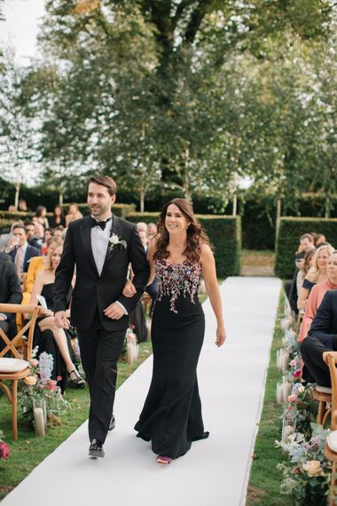 Outdoor Wedding Ceremony | Contemporary Elegance Wedding in the Countryside  | M & J Photography | Film by Jacob and Pauline