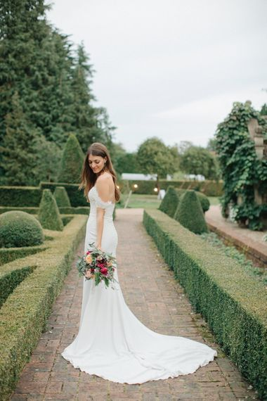 Bride in Lace Custom Made Pronovias Wedding Dress | Contemporary Elegance Wedding in the Countryside  | M & J Photography | Film by Jacob and Pauline