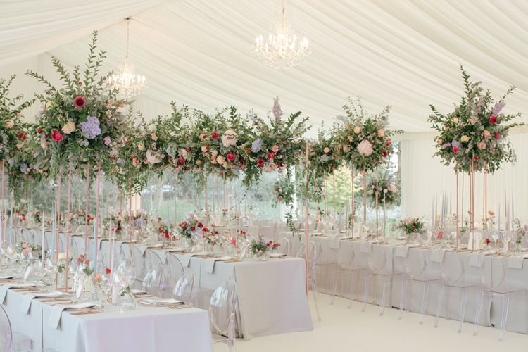 WILLOWGOLD Floral Design | Marquee Reception | Contemporary Elegance Wedding in the Countryside  | M & J Photography | Film by Jacob and Pauline