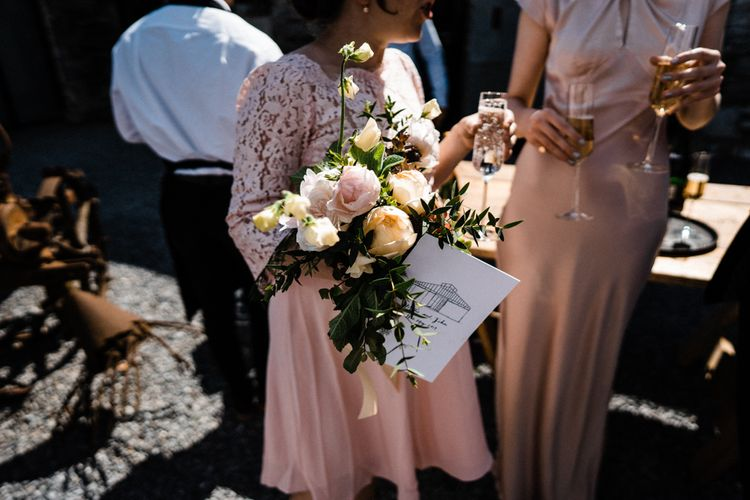 Pink and Peach Spring Wedding Bouquet