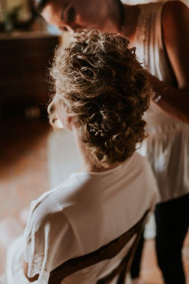 Pinned Bridal Up Do