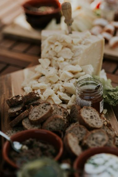 Bread and Cheese Food Patter Wedding Breakfast